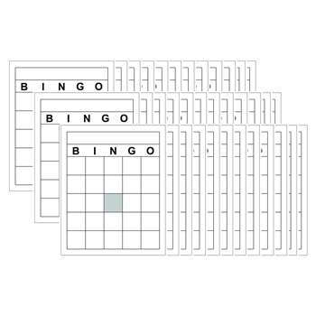 Blank Bingo Cards By Top Notch Teacher Products