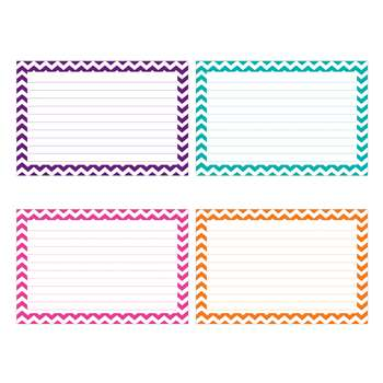 Shop Border Index Cards 3 X 5 Lined Chevron - Top3550 By Top Notch Teacher Products