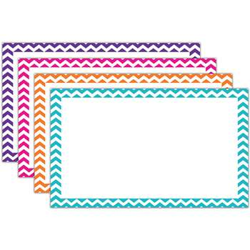 Shop Border Index Cards 3 X 5 Blank Chevron - Top3552 By Top Notch Teacher Products