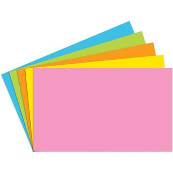 Index Cards 3X5 Blank 100 Ct Brite Assorted - Top360 By Top Notch Teacher Products
