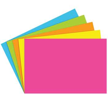 Index Cards 4X6 Blank 100 Ct Brite Assorted - Top361 By Top Notch Teacher Products