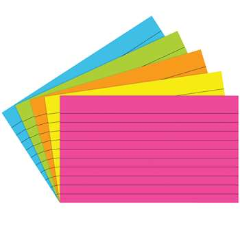Index Cards 3X5 Lined 75 Ct Brite Assorted - Top362 By Top Notch Teacher Products