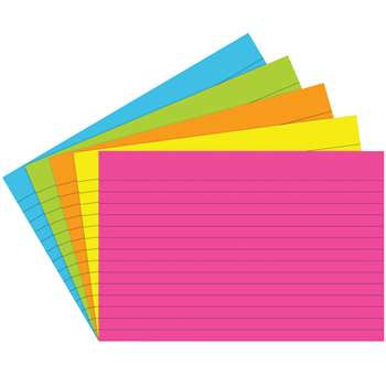 Index Cards 4X6 Lined 75 Ct Brite Assorted - Top363 By Top Notch Teacher Products