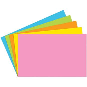 Index Cards 5X8 Blank 100 Ct Brite Assorted - Top364 By Top Notch Teacher Products