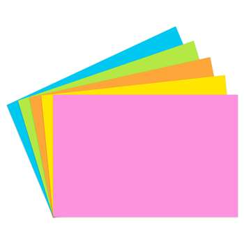 Index Cards 2X3 Blank 200 Ct Brite Assorted - Top365 By Top Notch Teacher Products