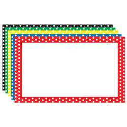 Border Index Cards 4X6 Polka Dot Blank - Top3655 By Top Notch Teacher Products
