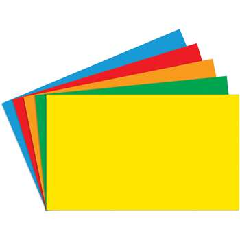 Border Index Cards 4 X 6 Blank Primary Colors 100Ct - Top3661 By Top Notch Teacher Products
