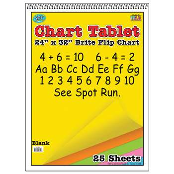 Chart Tablets 24X32 Assorted Blank - Top3822 By Top Notch Teacher Products