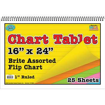 Chart Tablets 16X24 Assorted Ruled - Top3841 By Top Notch Teacher Products