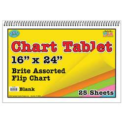 Chart Tablets 16X24 Assorted Blank - Top3842 By Top Notch Teacher Products