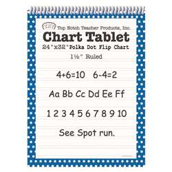 Polka Dot Chart Tablet Blue 1.5 Ruled - Top3846 By Top Notch Teacher Products