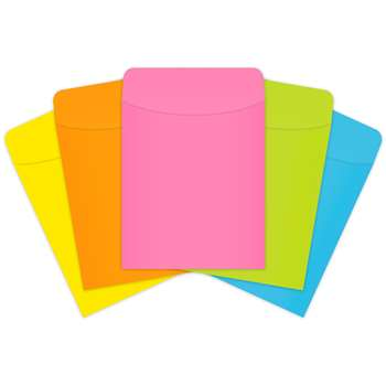 Brite Pockets Peel & Stick 375/Box Brite Assorted - Top4015 By Top Notch Teacher Products