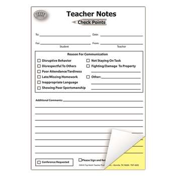 Teacher Notes Check Points Booklet, TOP4923