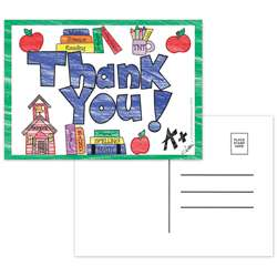 Thank You Postcards - Top5104 By Top Notch Teacher Products
