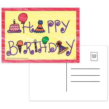 Happy Birthday Postcards - Top5106 By Top Notch Teacher Products