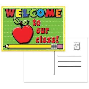 Welcome To Our Class Postcards 30Pk - Top5122 By Top Notch Teacher Products