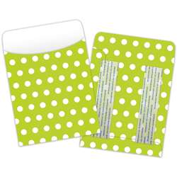 Brite Pockets Grn Polka Dots 25/Bag Peel & Stick - Top6034 By Top Notch Teacher Products