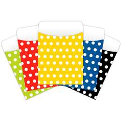 Brite Pockets Asst Polka Dots 25Bag Peel & Stick - Top6039 By Top Notch Teacher Products