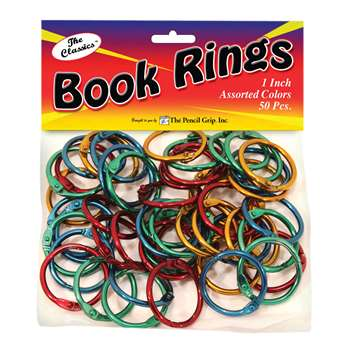 Book Rings Assorted Colors 50Pk - Tpg189 By The Pencil Grip