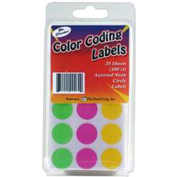 Neon Circle Labels - Tpg460 By The Pencil Grip