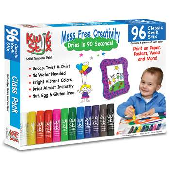 Kwik Stix Tempera Paint Classpack 96Pc Set, TPG696