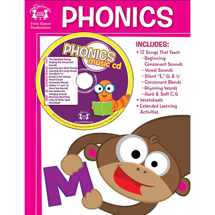 Workbooks/Songs That Teach Phonics Workbook & Cd - Twin364Cd By Twin Sisters Productions