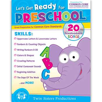 Lets Get Ready For Preschool Activity Book, TWIN4041