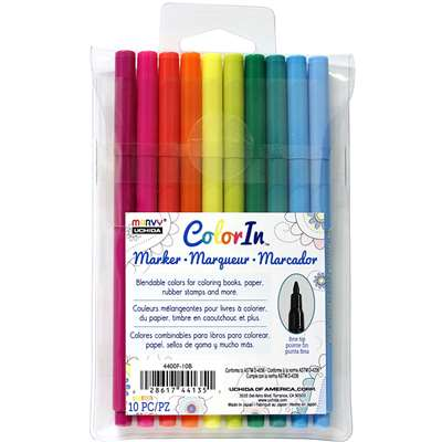 10 Piece Set Fine Tip Bright Colors, UCH4400F10B
