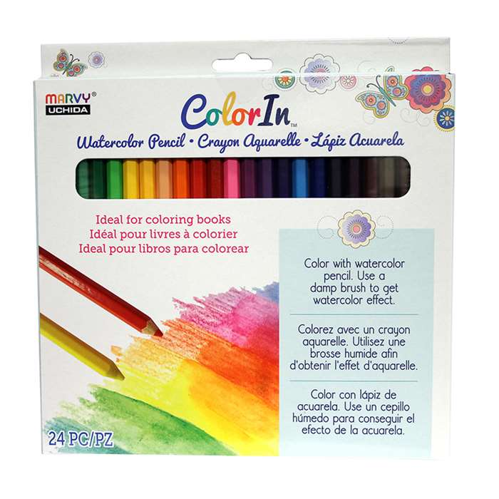 24 Piece Watercolor Pencil Set, UCH460024A