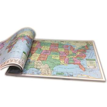 Us & World Combo Study Pads - Uni16307 By Kappa Map Group / Universal Maps