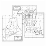 Shop 50 State Outline Map Set Laminated - Uni21275 By Kappa Map Group / Universal Maps