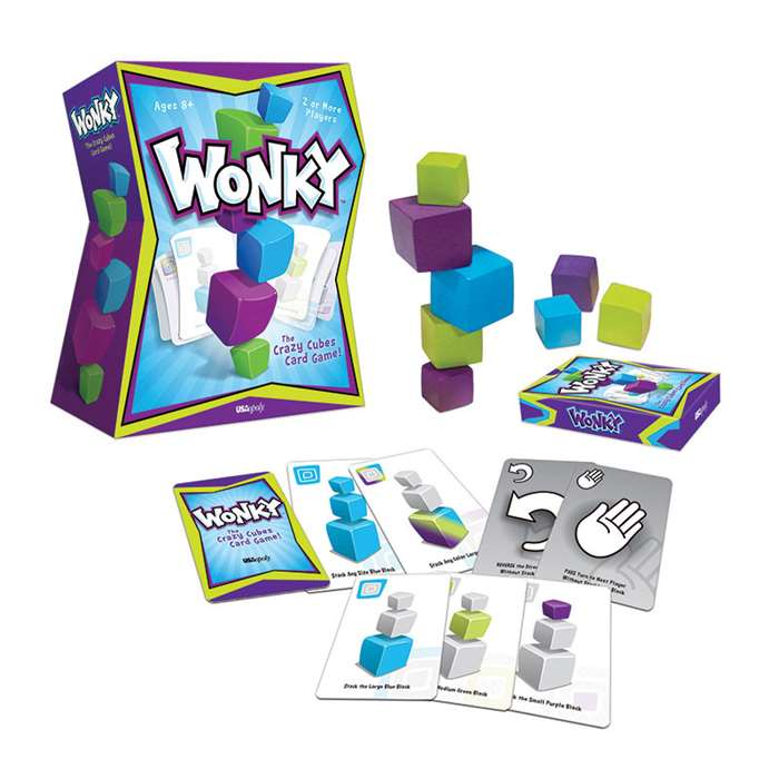 Wonky The Crazy Cubes Card Game, USAWK107000