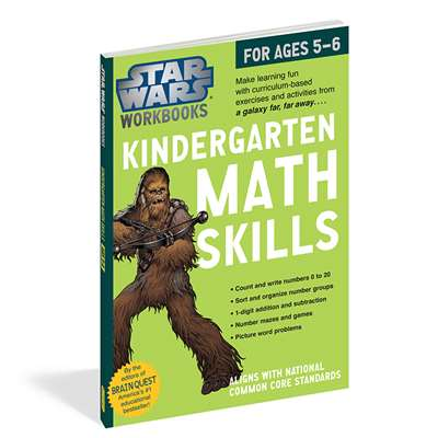 Star Wars Workbook Math Skills Gr K, WP-17804