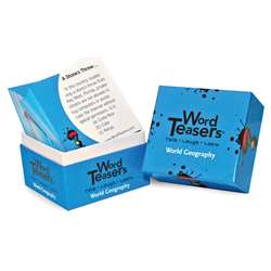 Wordteasers Flash Cards World Geography - Wt-7229 By Word Teasers