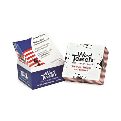 Wordteasers Flash Cards American Heroes And Legends - Wt-7236 By Word Teasers