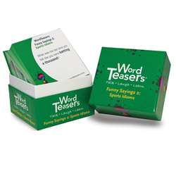Wordteasers Flash Cards Funny Sayings 2 Sports Idioms - Wt-7274 By Word Teasers