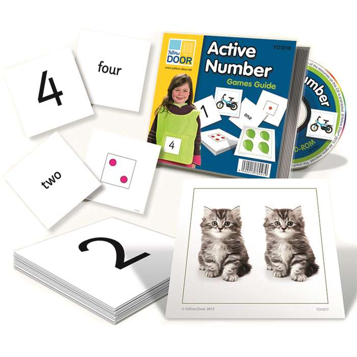 Shop Active Number Cards - Yus1018 By Yellow Door Us