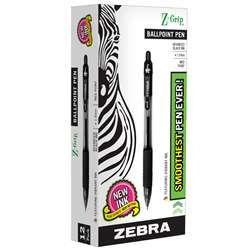 Z Grip Ballpoint Pen Black - Zeb22210 By Zebra Pen