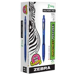 Z Grip Ballpoint Pen Blue - Zeb22220 By Zebra Pen