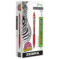 Z Grip Ballpoint Pen Red - Zeb22230 By Zebra Pen