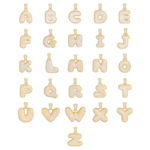 BRASS BUBBLE INITIAL PENDANT AND CHAIN SET / BCH 204 20