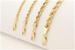 "24"" GOLD ROPE CHAIN / CHR 024 G - 08 mm / 24"""