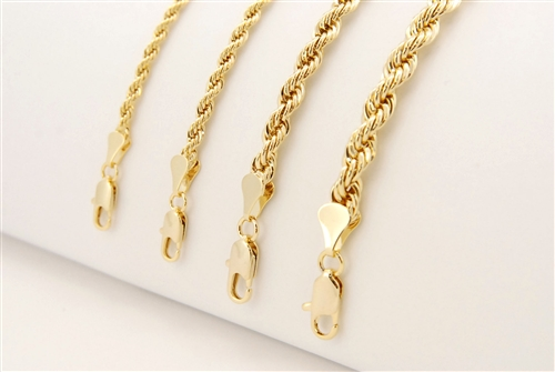 "24"" GOLD ROPE CHAIN / CHR 024 G"