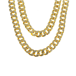 FULL STONE DOUBLE CUBAN CHAIN / CSN 016 DBL