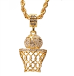 BASKET BALL PENDANT AND CHAIN SET / HC 1109