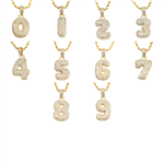 BUBBLE NUMBER PENDANT AND CHAIN SET / HH 104-1