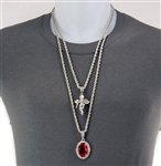 DOUBLE PENDANT AND CHAIN SET / MHC 10