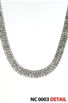 THREE LINE STONE CHAIN / NC 0003