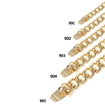 STAINLESS STEEL CUBAN CHAIN WITH LUXURY CLASP / SCH 900