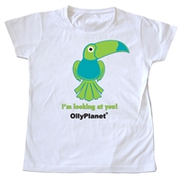Get this adorable green toucan toddler tee on OllyPlanet.com